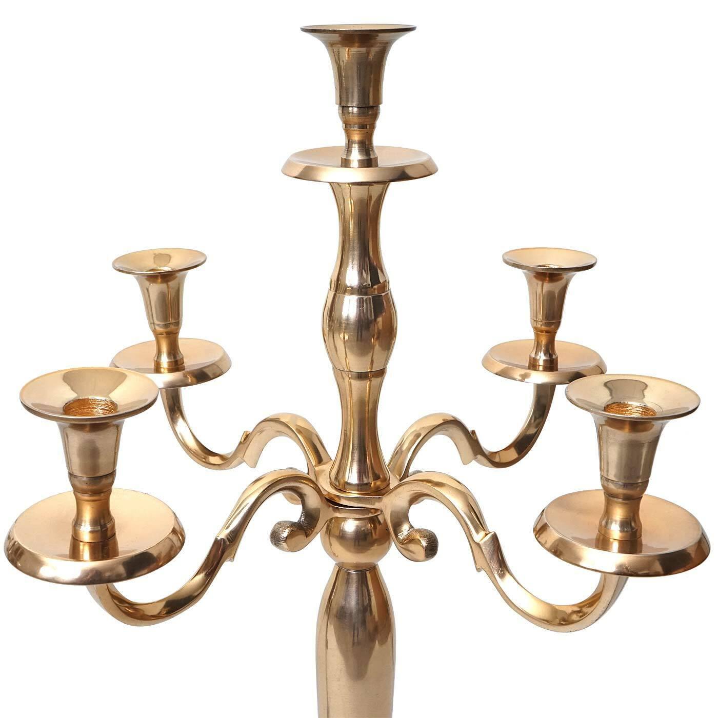 Kerzenständer  HWC-D81, 5-armig aus Aluminium 80cm 80cm 80cm massiv, Farbe  Gold | Bekannt für seine schöne Qualität  5a34d3