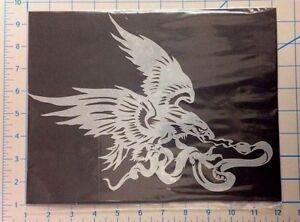 Ordonné Mylar Airbrush Stencil Aigle Et Serpent Design Pour Moto Art Graffiti Craft-afficher Le Titre D'origine Volume Large