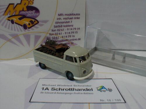 """Brekina Schrotthandel /"""" 1:87 100 pcs. Schneider Volkswagen T1b Pritsche /"""" W"""