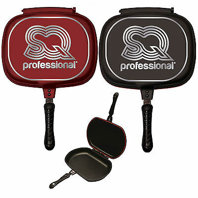 Pots & Pans 32cm Double Sided Die-cast Grill Frying Pan Magic Foldable Flipping Griddle Good Taste