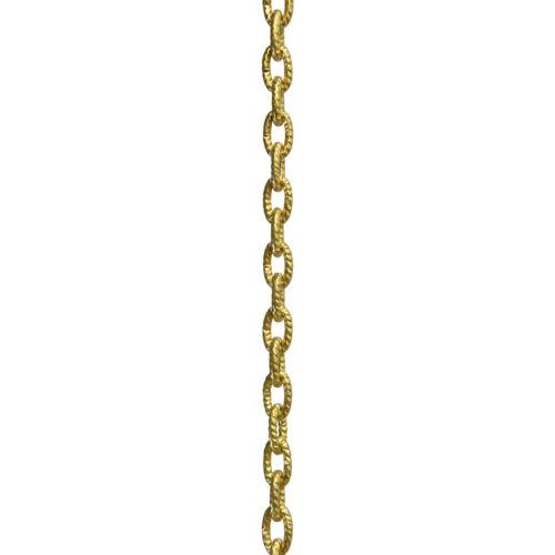 Solid Brass Mottled Decorative Chandelier Lighting Chain #34 1 yard or 3 ft