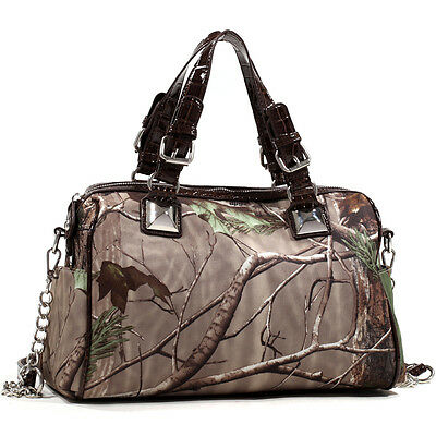 New Realtree Women Camouflage Leather Handbag Satchel Totes Shoulder Bag Purse