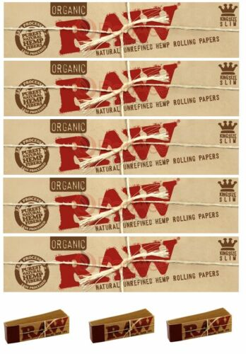 Raw Papiers Kingsize//Biologique 5+3 Gardon Embouts,Rizla Alternative Naturel+