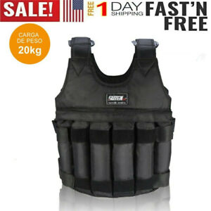 Adjustable-Workout-Weight-110LB-50KG-Weighted-Vest-Exercise-Training-Fitness-USA