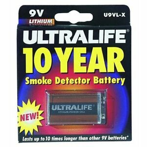 ultralife u9vl jpxc long life 9v lithium battery pwr smoke detector blister ebay. Black Bedroom Furniture Sets. Home Design Ideas