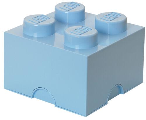 LEGO storage Brick xl clair bleu roi pierre 2x2 de rangement boîte box boîte 4 embouts