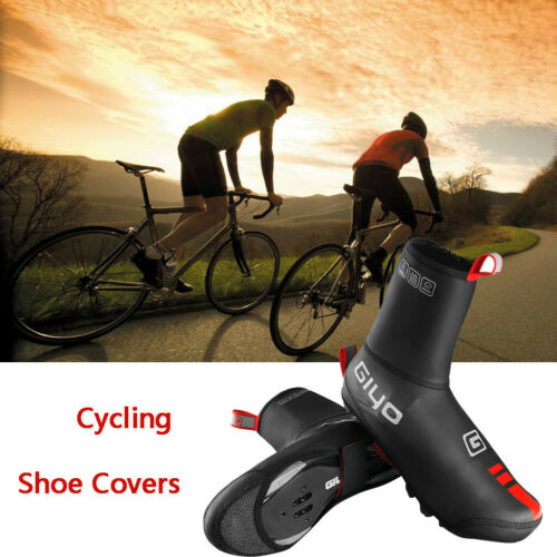 Outdoor Reflective Cycling Shoe Covers Winter Warm Windproof Overshoes Size S-XL