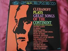 CLEBANOFF PLAYS GREAT SONGS OF THE CONTINENT CLEBANOFF STRINGS AND ORCHESTRA LP