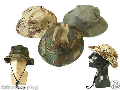 Bucket Hat Fishing Golf Military Outback 100% Cotton Choice Colors Newhattan
