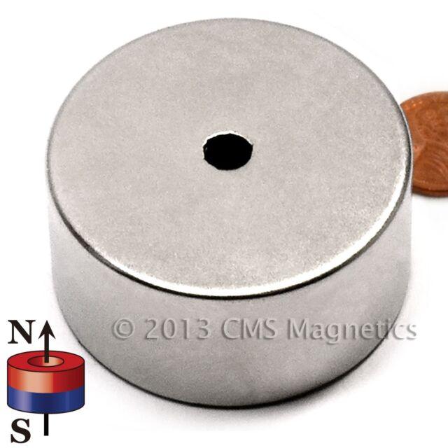 Neodymium Ring Magnet N42 OD2xID0.25x1 Inch NdFeB Rare Earth Lot 1