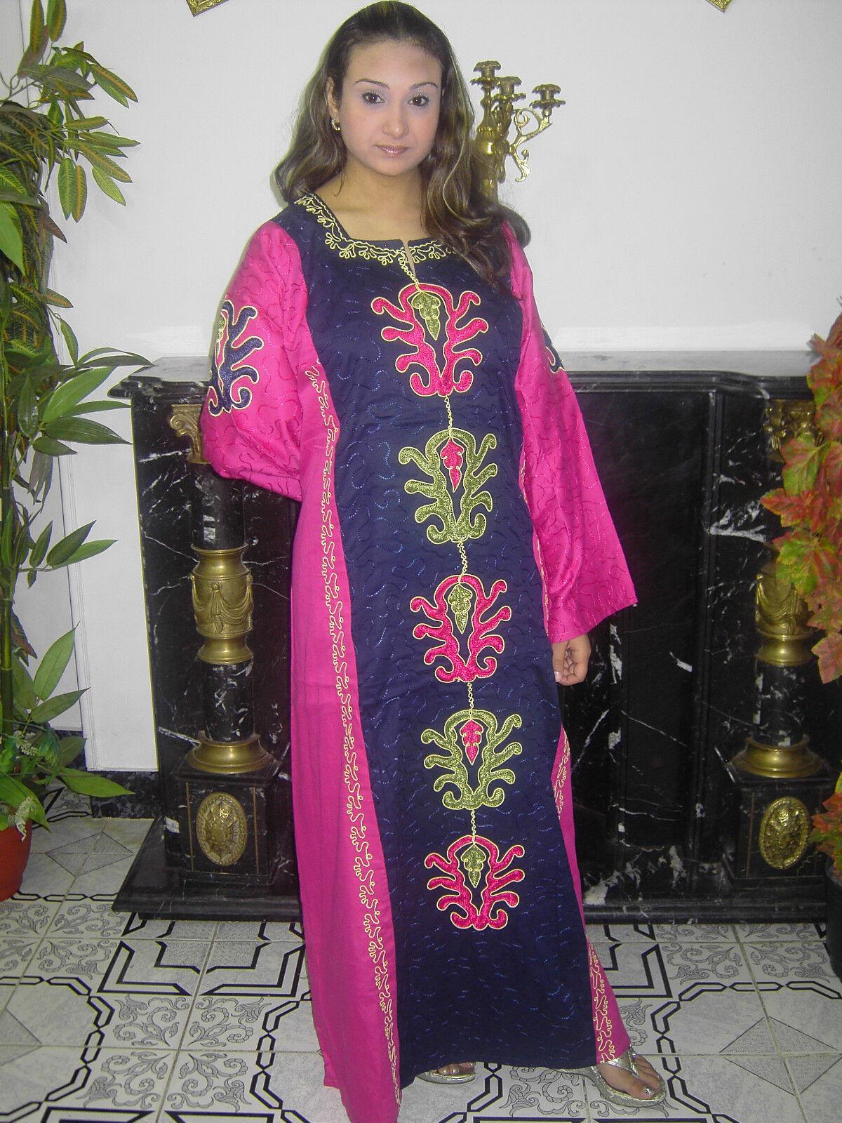 KAFTAN HAUSKLEID TUNIKA FESTKLEID ÄGYPTEN ABAYA HAUSKLEID  IN Rosa- ABY00253