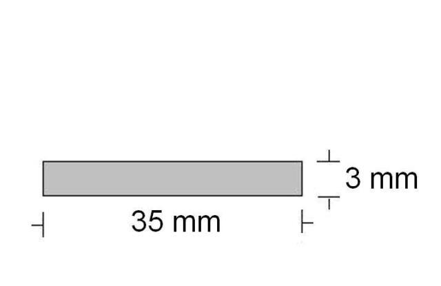 Alu Flachprofil  35 x 3 mm, (2,50€/m)