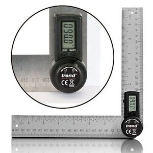Digitaler Winkelmesser 400 mm Winkelschmiege Winkelmessgerä<wbr/>t Neu 2 x 200 mm