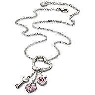 **BNIB** Swarovski Pink Heart Lock Pendant 848563 RRP £97