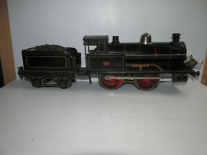 Great-Old-Marklin-326-Sheet-Metal-Steam-Locomotive-Queen-Mary-Electric-16-1-8in