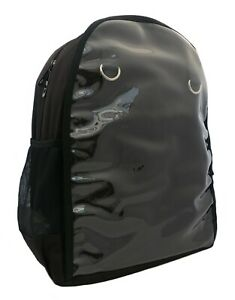 BLACK-CLEAR-FRONT-Backpack-Rucksack-School-College-Korean-KPOP-Rock-Custom-Bag