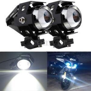 2pcs-Motorrad-Hauptcheinwerfer-U5-LED-Nebelscheinwerfer-Spot-Licht-125W-Schwarz