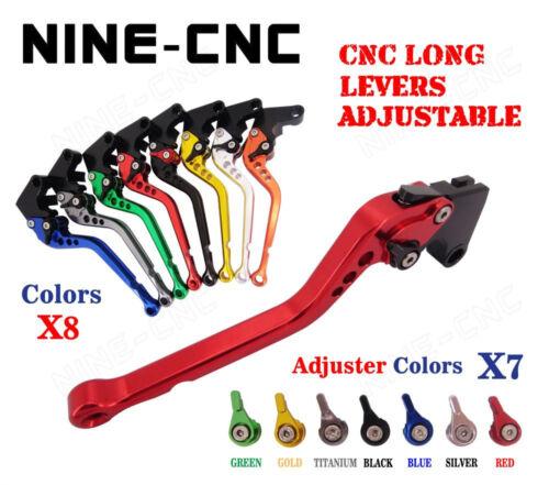 CNC Long Brake Levers For Kawasaki GPZ500S EX500R NINJA 90-09 ZXR400 ALL YEARS