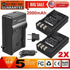 2x Batteria Patona caricabatteria casa//auto per Nikon D60 DSLR,D3000 DSLR