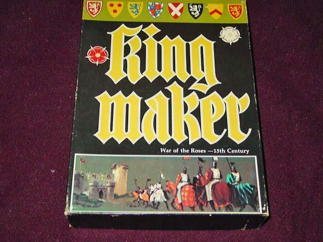 Avalon Hill 1976 - Kingmaker - War of the pinks - 15th Century - Rare 1st Edit.