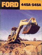 Equipment Brochure - Ford - 445A 545A - Tractor Loader Backhoe - c1985 (E1569)