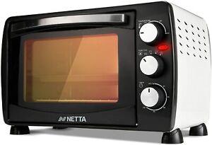 NETTA Mini Oven 18L Portable Electric Grill 1200W Table Top