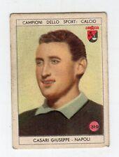 figurina LAVAZZA ANNO 1950/51 CALCIO NUMERO 319 NAPOLI CASARI NEW