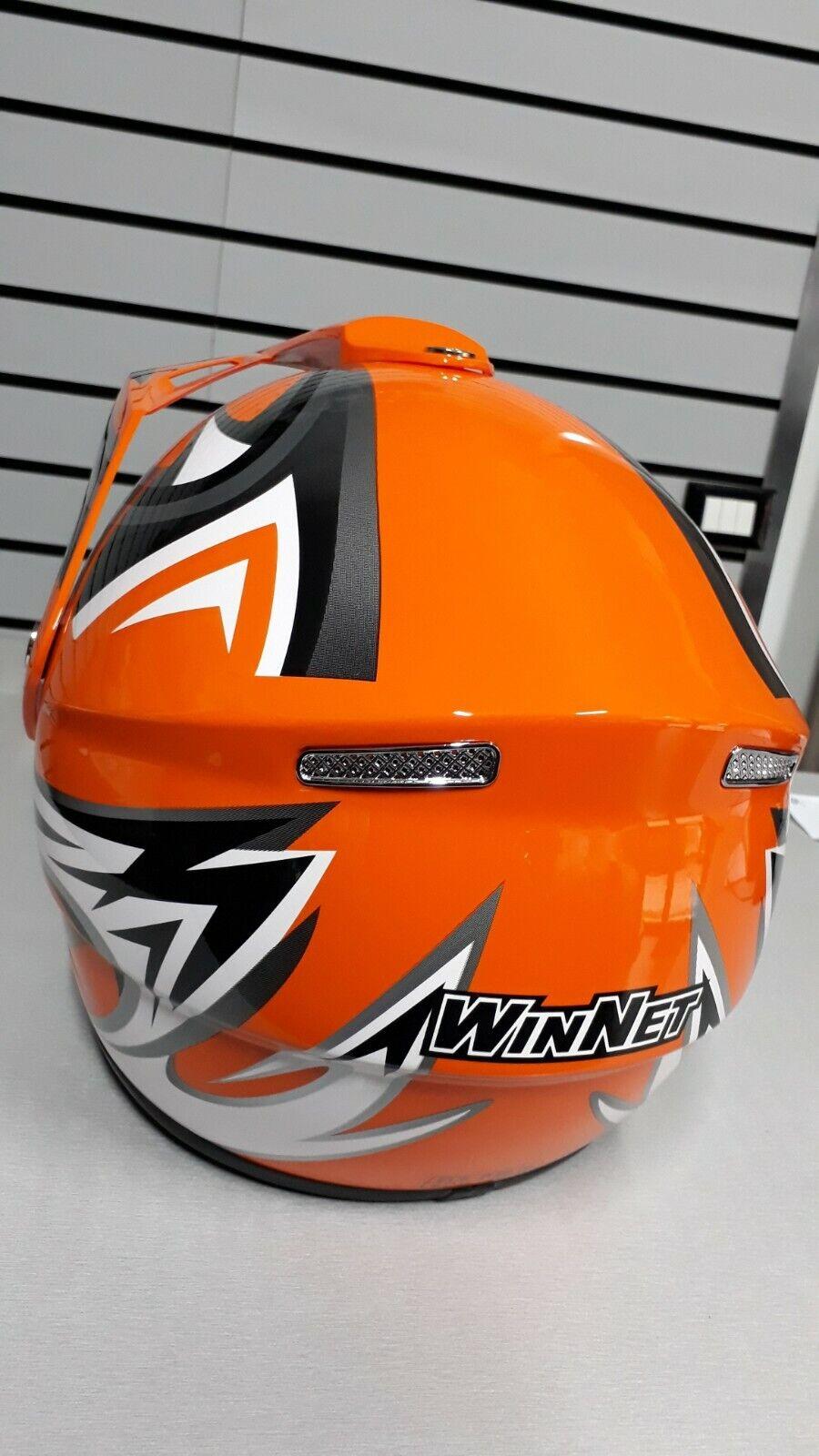 WinNet Stivali per Moto da Cross Enduro Fuoristrada Quad 43 EU, Arancio
