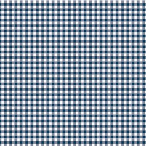 100/% TELA DE ALGODÓN guardería patchwork sewi Clásicos de algodón-Azul Marino-Guinga 2mm