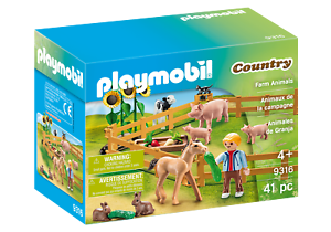 Playmobil-9316-Farm-Animals-Enclosure-Farm-amp-Animals-Playsets-Age-3