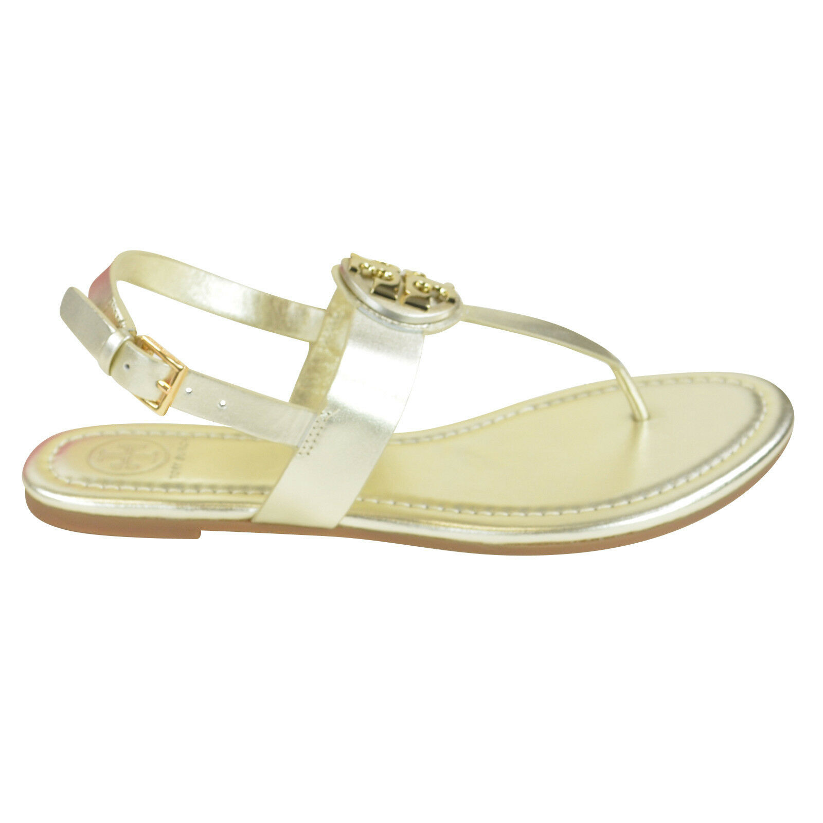9504e950d Tory Burch Bryce Flate Thong Sandal  Vegan Leather in Spark Gold 9 ...