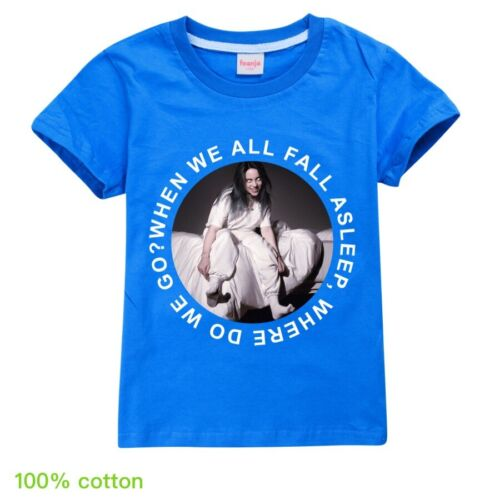 NUOVI Billie eilish 100/% Cotone Bambini Estate Casual Manica Corta T-shirt Top Regalo