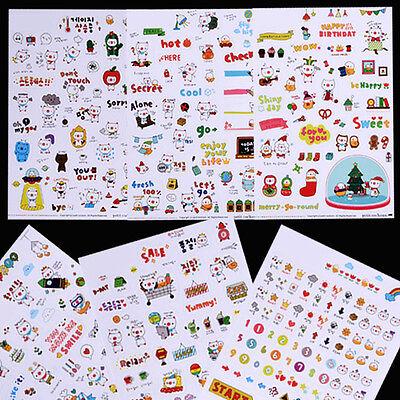 Kawaii DIY Planner Diary Deco Stickers Transparent Scrapbooking Calendar Sticker