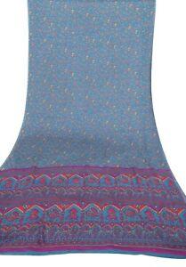 VINTAGE-GREEN-SARI-SILK-FABRIC-INDIAN-WOMEN-039-S-DRESS-WRAP-CRAFTS-MULTIPLE-FASHION