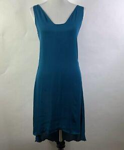 Diane-von-Furstenberg-Women-039-s-Sheer-Dress-Size-2-Green-Sleeveless-100-Silk