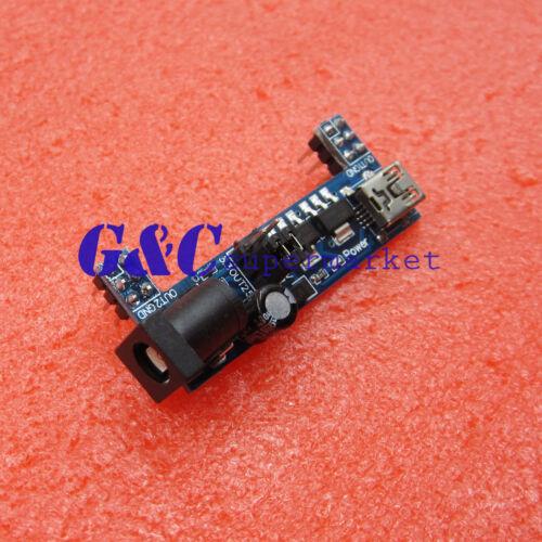 10PCS MB102 Breadboard Power Supply Module 3.3V 5V Solderless Arduino mini usb