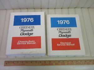 1976-Chrysler-Dodge-Plymouth-Car-Shop-Service-Repair-Manual-Set-ORIGINAL