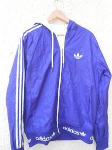 Détails sur Adidas veste k way viollette Taille L Série collector Neuve