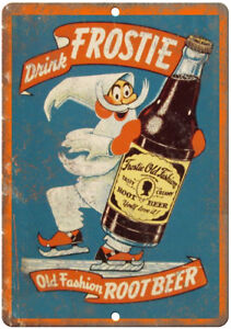 Frostie-Old-Fashion-Root-Beer-Ad-10-034-x-7-034-Reproduction-Metal-Sign-N08