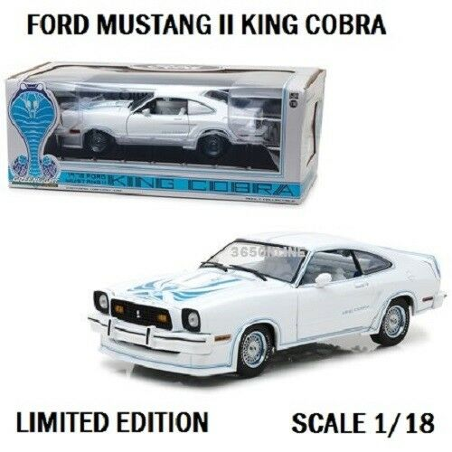 vertLIGHT 1978 Ford Mustang II King Cobra Blanc 1 18 Diecast 13508