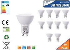 GU10 LED Bulb Cool White, 6W, 480 lumens, 6000K, 120° Beam Angle - Pack of 10