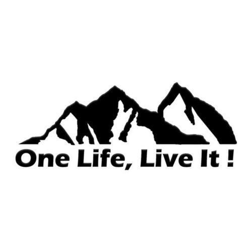 Mountain Silhouette Car Sticker Cool Auto Window Decals ONE LIFE LIVE IT