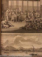 1725 de Bruyn Voyages CHINA Southeast Asia MAPS Ceylon, Sri Lanka, Indonesia +