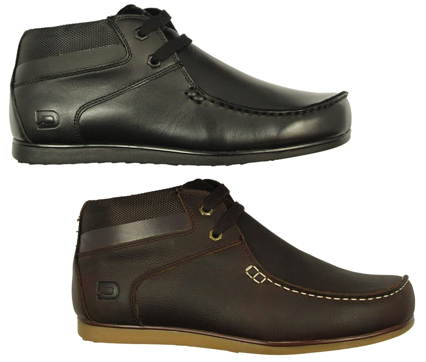 MENS NICHOLAS DEAKINS SHOES OFFENDER-2 SMART BLACK BROWN DESIGNER BOOTS 6-12