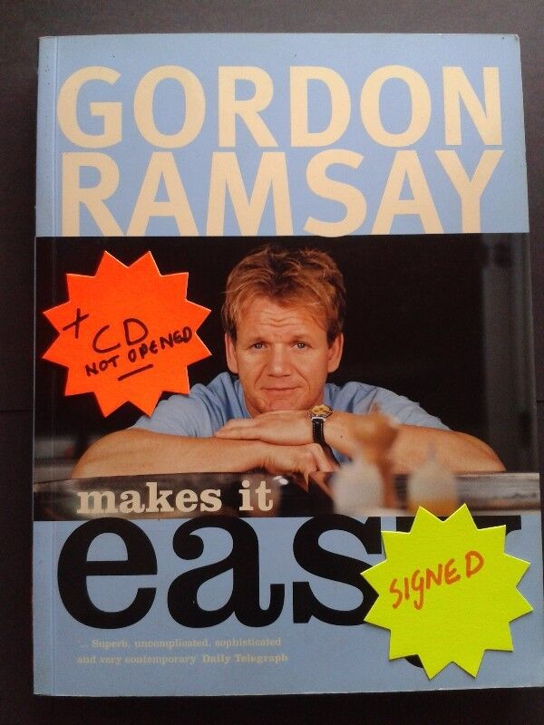 Make it easy - Gordon Ramsay - Signed - With DVD not opened.
