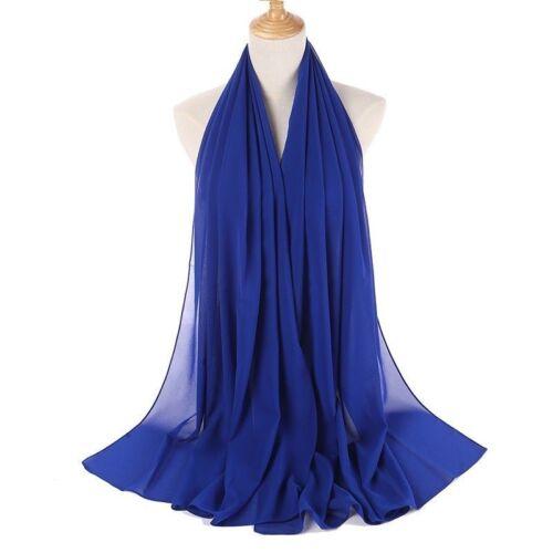 175X70cm Maxi Chiffon Scarf Plain Kopftuch Schal Hijab Dupatta Sarong Schal