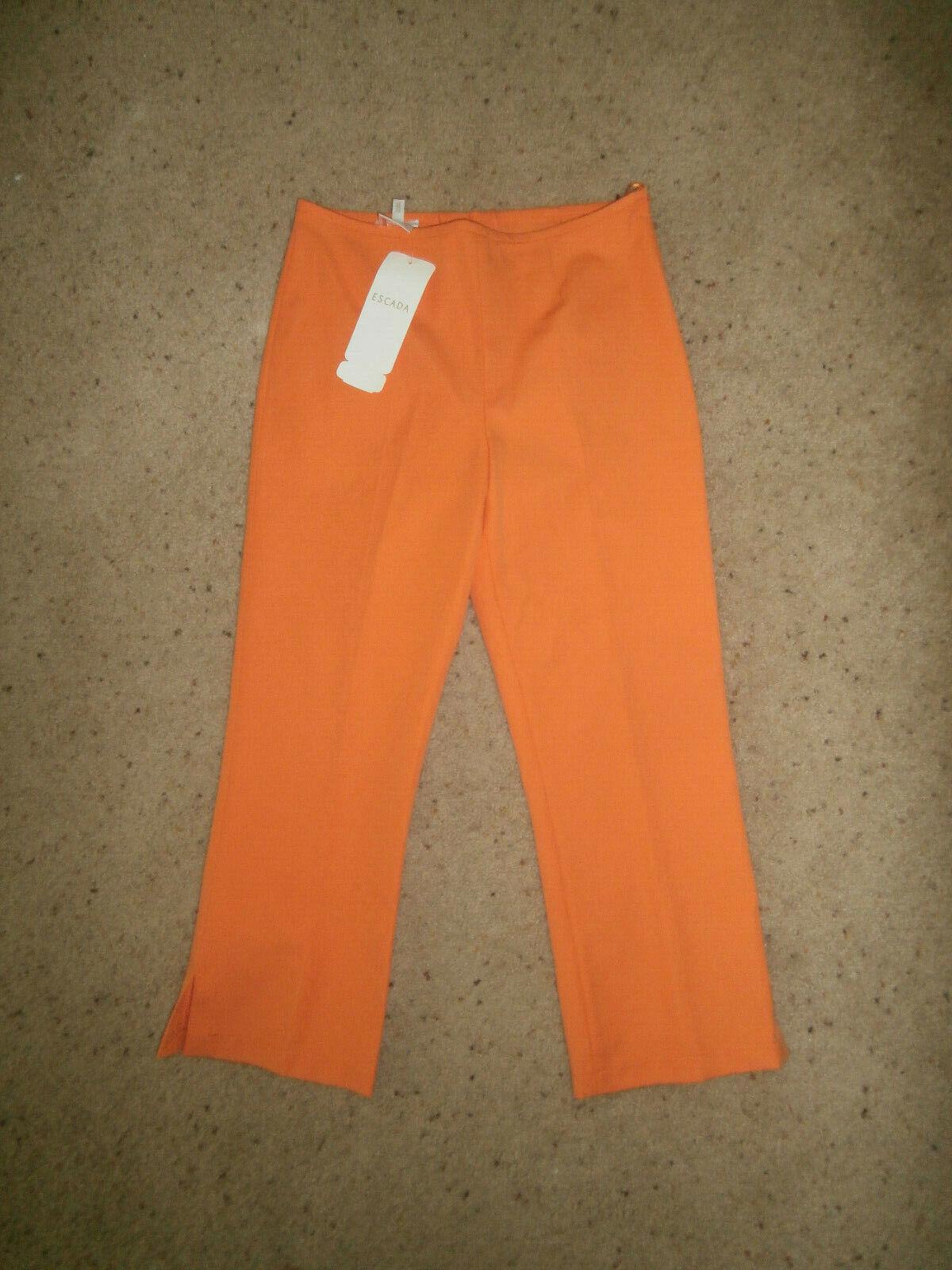 NEW NWT Escada  SZ 6 S 36 CAPRI pants  orange STRETCH
