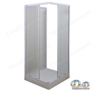 Cabina Doccia 70x90 3 Lati.Dettagli Su Box Doccia A Tre 3 Lati 70x90 Cristallo E Profili Alluminio Bianco Angolare