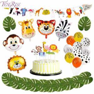 Safari-Jungle-Theme-Birthday-Children-Party-Decorations-Animal-Balloons-Kids-DYI