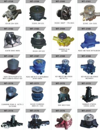 Water Pump Fits HITACHI EX200-2 EX200-3 HR1000 RX2000 6BD1 Engine W// Gasket